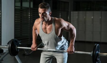 Upper Back Barbell Exercises - Bent Over Barbell Row