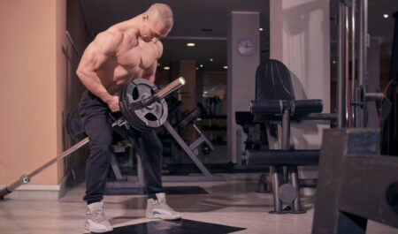 Upper Back Barbell Exercises - T bar Barbell Row