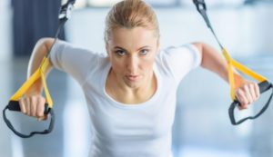 back and shoulder workout with Trx
