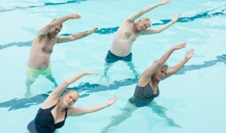 Swimming Workout For Abs - Exercises in the water