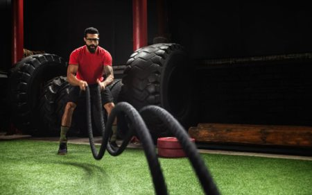 Best Way To Lose Weight Fast For Men - Battle Ropes Exercise