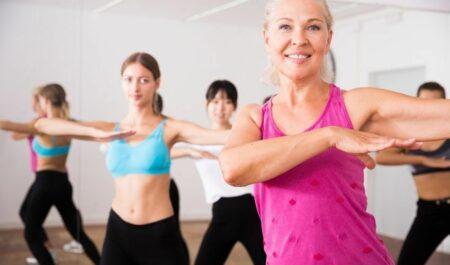 Attractive Women Over 60 - aerobic exercise 60 women