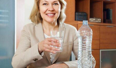 Attractive Women Over 60 - drinking water 60 women