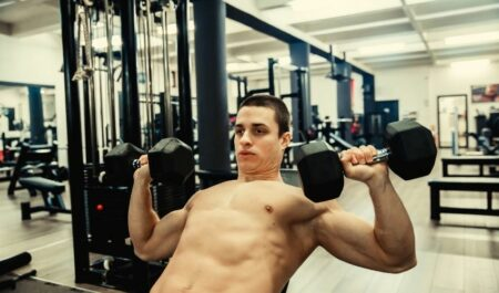 Best Upper Chest Exercises - workout with dumbbells