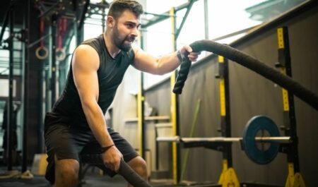 Cardio Core Exercise - Battle Rope Cardio Exercises