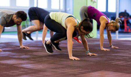 Aerobic Dance Exercise - Burpees aerobic exercise