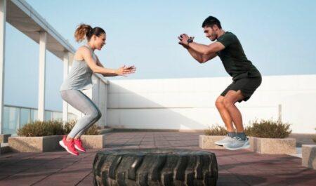Cardio Core Exercises - Squat Jumps