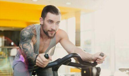 Cardio Core Exercises - stationery bike
