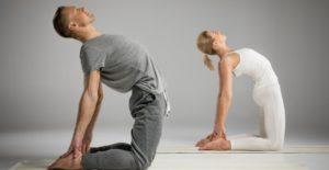 yoga camel pose