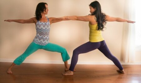 Yoga Poses For Weight Loss - warrior two yoga