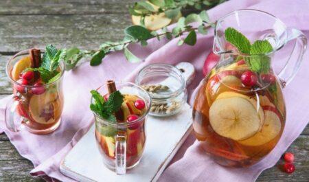 Apple Cider Vinegar And Honey - Cranberry drink