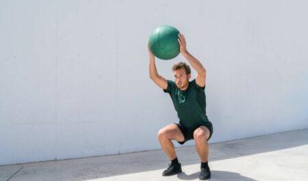 Medicine Ball Ab Workout - Overhead Squat