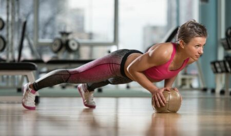 Medicine Ball Ab Workout - Push-ups