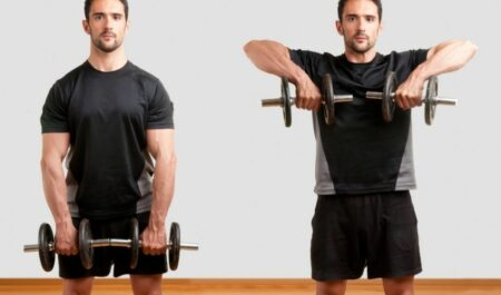 Lower Back Exercises With Dumbbells - Upright Row dumbbell