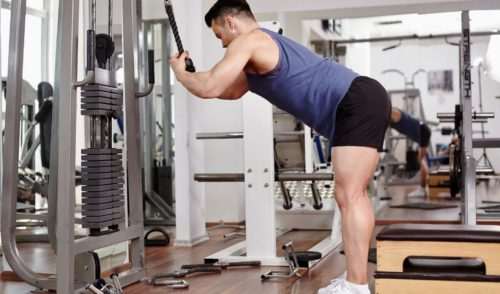 Cable Crunches For Abs- Standing cable crunch exercise