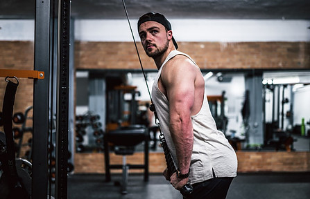 Cable Overhead Triceps Extension - cable-workout-for-men