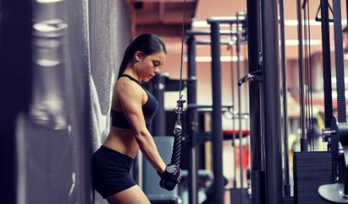 Cable Overhead Triceps Extension - cable workout for women