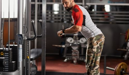 Cable Overhead Triceps Extension - triceps brachii exercises