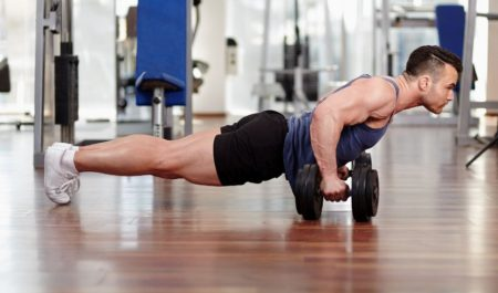 Dumbbell Triceps Workout - Close Grip Dumbbell Push-Ups
