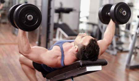 Dumbbell Tricep Workout - dumbbell Neutral Grip Press Exercise