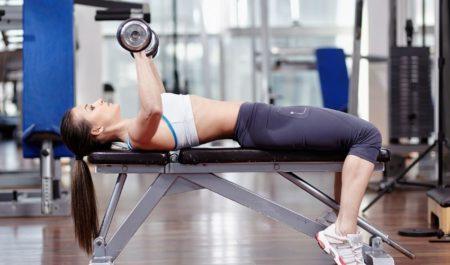 Dumbbell Triceps Workout - lying skull crusher Exercise