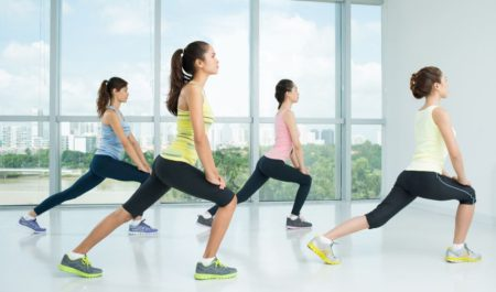 Tabata Workout Plan - reverse lunges workout