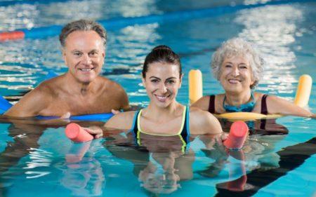 Aquatic workout classes