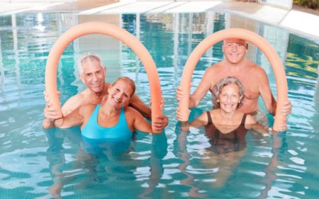 Aerobics For Seniors - Seniors Water Aerobics workout