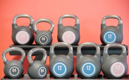 Kettlebell Deadlift - Several weight kettlebells