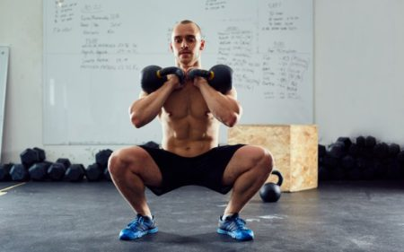 Kettlebell Squats - Two Kettlebells workout
