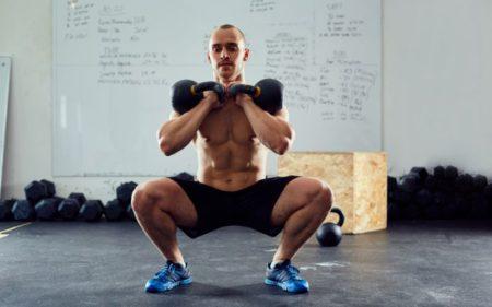 Kettlebell Squats - Two Kettlebells workout
