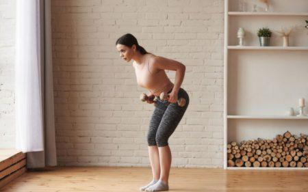 Shoulder Exercises For Women - dumbbell bend over exercise