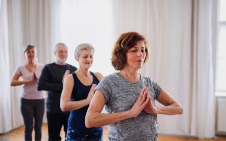 Group Exercise - senior yoga exercises
