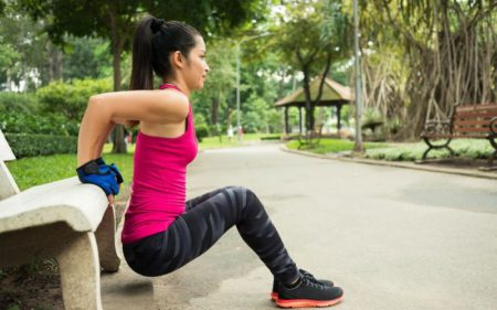 Home Workout Plan - women triceps dip exercise