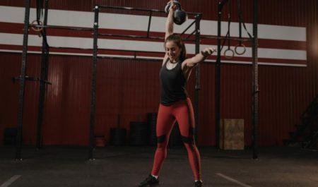 Kettlebell Leg Workout - Kettlebell Overhead Lunges
