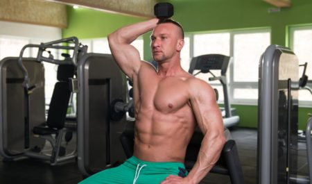 How To Get Rid Of Armpit Fat - Seated Triceps Press