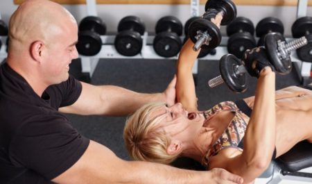 Upper Body Workouts For Beginners - dumbbells press Exercise