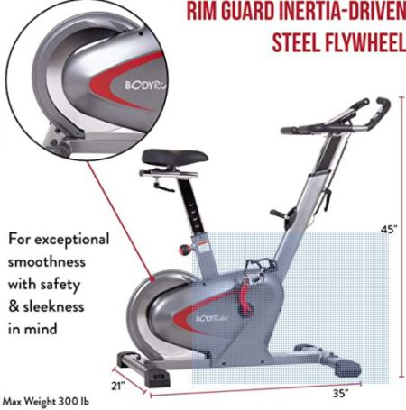 Body Rider Indoor Upright Exercise Bike