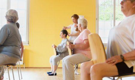 Upper Body Exercises For Seniors - Chair yoga for seniors