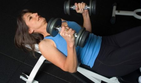 Dumbbell Tricep Press