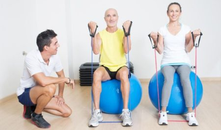 Fitness Women Over 60 - Front raise workout