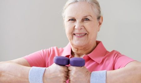 Upper Body Exercises For Seniors - Overhead Press