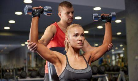 Shoulder Workouts For Women - Seated Dumbbell Press