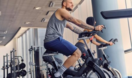 Upright Exercise Bike - Upper body workout