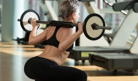 Bench Press Workout Routine - barbell squats
