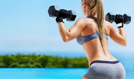 Dumbbell Deadlift - glutes muscles workout
