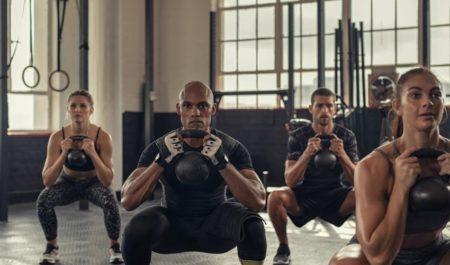 Full Body Kettlebell Workout - kettlebell squats