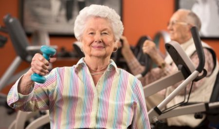 Fitness Women Over 60 - lift weights