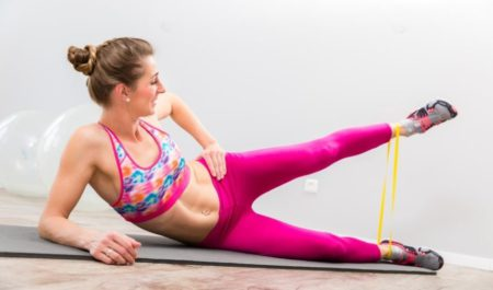 Leg And Arm Workouts - resistance band leg workout