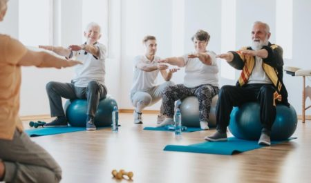 Upper Body Exercises For Seniors - seated exercises